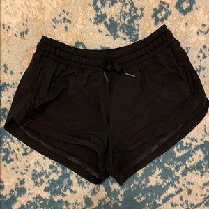 Size 6 Black Lululemon Shorts